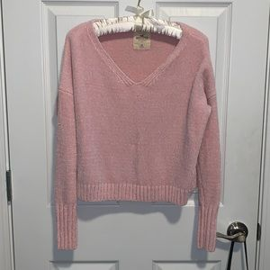 HOLLISTER | nwot pink chenille sweater